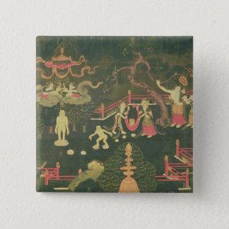 The Life of Buddha Shakyamuni 15 Cm Square Badge