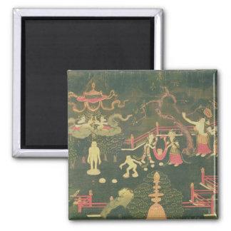 The Life of Buddha Shakyamuni Square Magnet