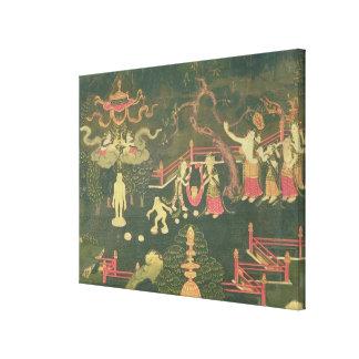 The Life of Buddha Shakyamuni Stretched Canvas Print