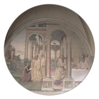 The Life of St. Benedict (fresco) (detail) 3 Plate