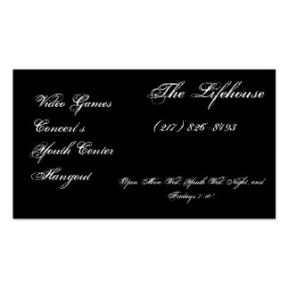 The Lifehouse Video Games Concert s Youth Ce Business Cards