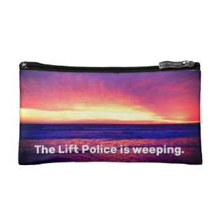 The Lift Police Is Weeping Cosmetics Bags