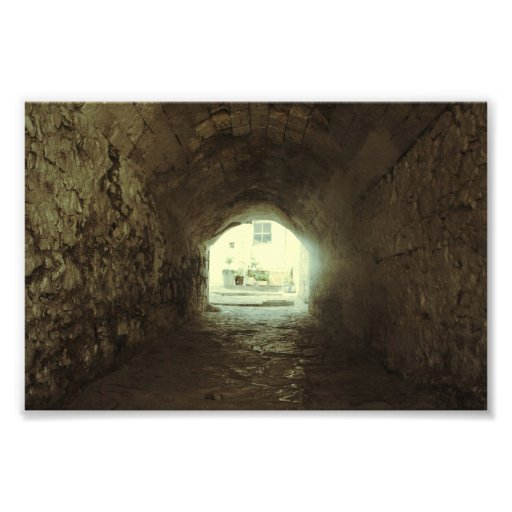 The light at the end of the tunnel art photo