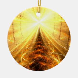The Light at the End of the Tunnel Round Ceramic Decoration
