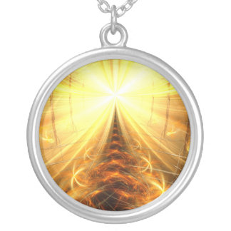 The Light at the End of Tunnel Round Pendant Necklace