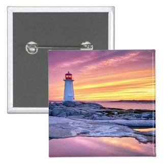 The Light Keeper | Peggy'S Cove 15 Cm Square Badge