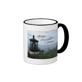 The Light of the World is Jesus. Ringer Mug