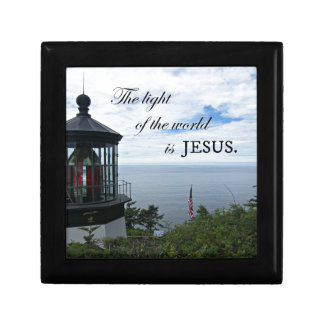 The Light of the World is Jesus. Small Square Gift Box