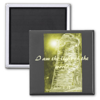 The light of the world square magnet