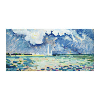 The Lighthouse at Gatteville Canvas Print