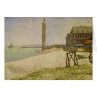 The Lighthouse at Honfleur by Georges Seurat Card