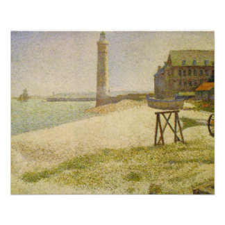The Lighthouse at Honfleur by Georges Seurat Flyer