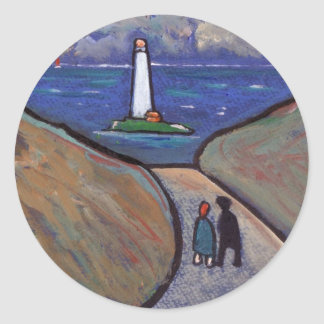 THE LIGHTHOUSE CLASSIC ROUND STICKER