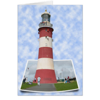 The Lighthouse in Plymouth Card