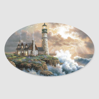The Lighthouse Oval Sticker