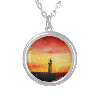 The Lighthouse Silver Plated Necklace