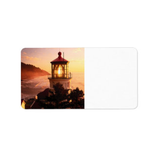 The Lighthouse View Address Label
