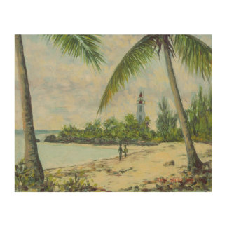 The Lighthouse Zanzibar 1995 Wood Wall Art
