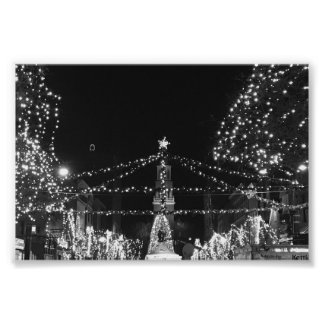 The Lighting of Church Street, Burlington Vermont Poster