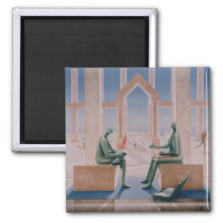 The Lightness of Banking 1989 Square Magnet
