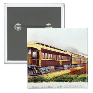 The Lightning Express 15 Cm Square Badge
