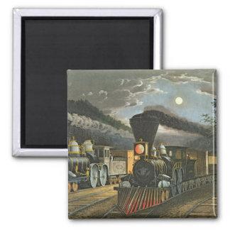 The Lightning Express Trains, 1863 Magnet