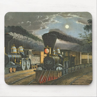 The Lightning Express Trains, 1863 Mouse Mat