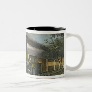 The Lightning Express Trains, 1863 Two-Tone Coffee Mug