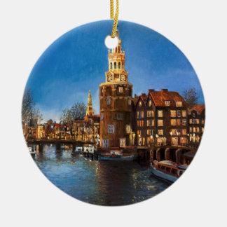 The Lights of Amsterdam Christmas Ornament