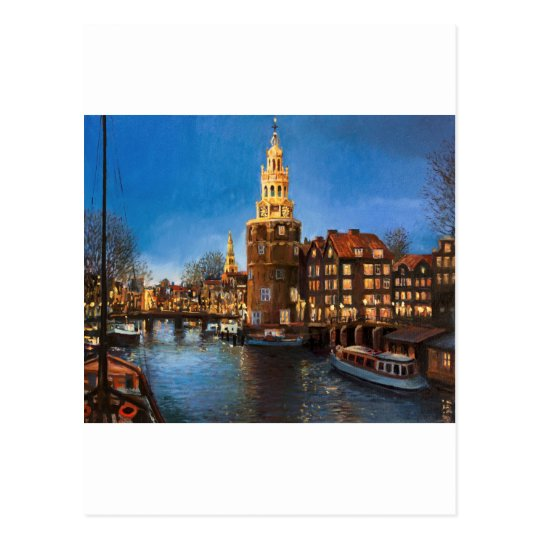 The Lights of Amsterdam Postcard