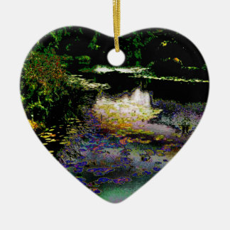 The Lily Pond Ceramic Heart Decoration