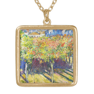 The Limes at Poissy Claude Monet cool old master Necklaces