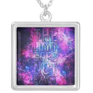 The limit does not exist. square pendant necklace