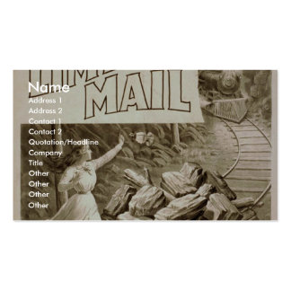 The Limited Mail, 'Nelie Saves the Limited Mail' Business Card Template