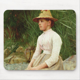 The Limpet Gatherer (oil on canvas) Mouse Pad
