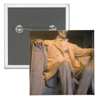 The Lincoln Memorial in Washington DC. 15 Cm Square Badge