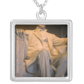 The Lincoln Memorial in Washington DC. Silver Plated Necklace