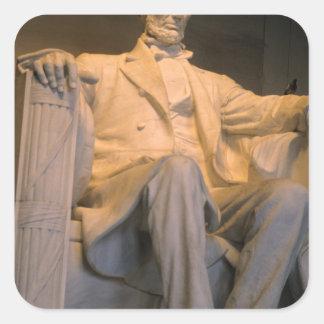 The Lincoln Memorial in Washington DC. Square Sticker