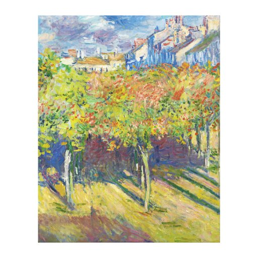 The Lindens of Poissy by Claude Monet Gallery Wrap Canvas