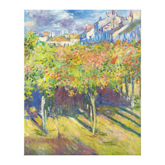 The Lindens of Poissy by Claude Monet Stretched Canvas Prints