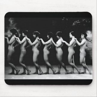 The Line Up Sexy Women Vintage Erotica Nude Pin-Up Mouse Pad