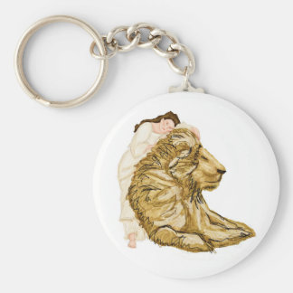 The Lion and the Lady Key Ring