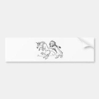 The Lion and The Unicorn Bumper Sticker