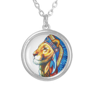 The Lion Chief Silver Plated Necklace