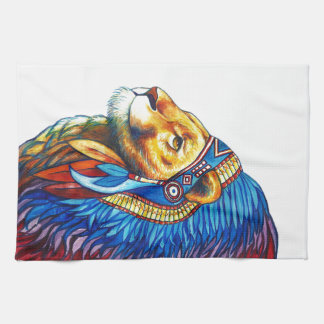 The Lion Chief Tea Towel