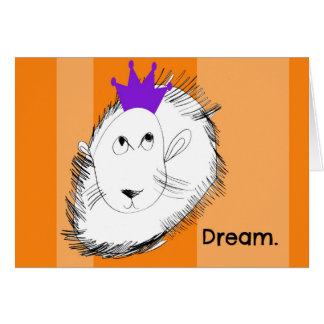 The Lion Dreams Notecard