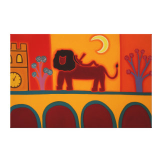 The Lion From Fulham Broadway 2008 Gallery Wrap Canvas