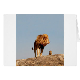The Lion King ( Adult Lion and Cub) Greeting Card