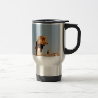 The Lion King ( Adult Lion and Cub) Stainless Steel Travel Mug