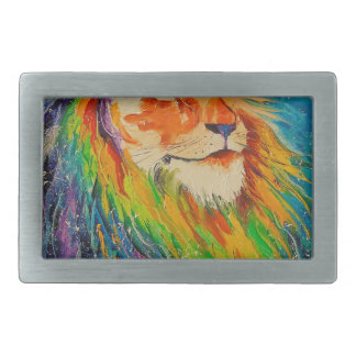 The lion king rectangular belt buckles